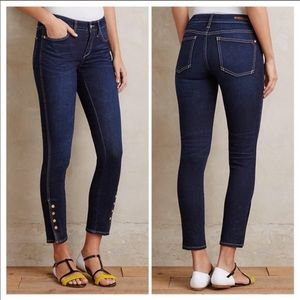 Anthropologie Pilcro Skinny Ankle Button Jeans